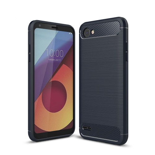 Carbon-fiber Θήκη LG Q6 / Q6 Plus (Dark Blue)